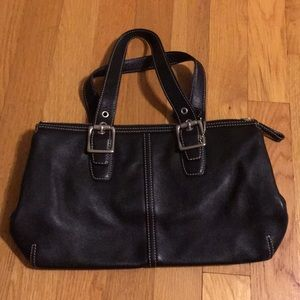 Vintage Coach Black Satchel